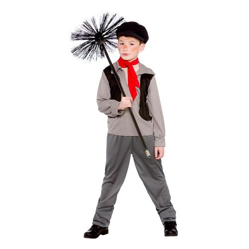 Boys Victorian Chimney Sweep Costume 19th 20th Century Historic Fancy Dress